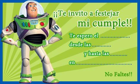 buzz lightyear invitaciones Tarjetas cumpleaños para niños BUZZ ...