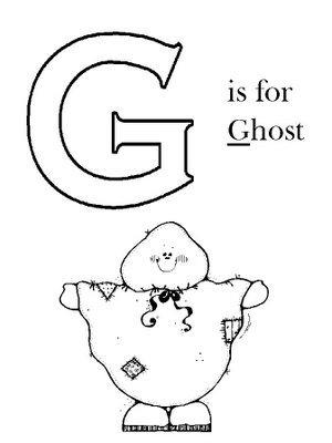 Fichas en inglés para niños – abecedario inglés – G a P