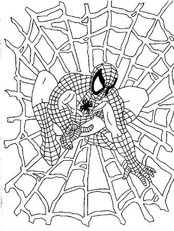 Spiderman para colorear – dibujos para niños