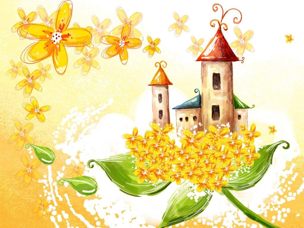 Bonito dibujo castillo de hadas para infantil - Dibujos de hadas infantiles para imprimir ...