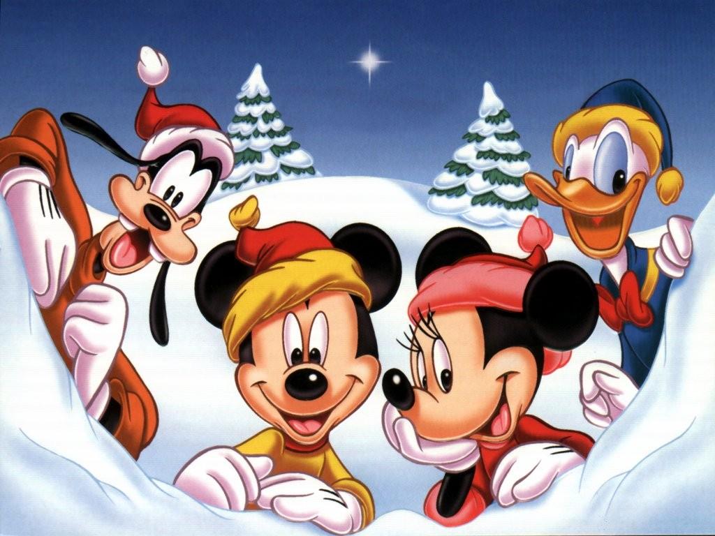 Disney navidad. 300x225 Tarjeta de Mickey Mouse y Minnie de Disney en ...