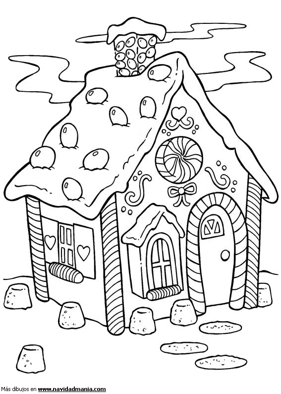 Image Result For Gingerbread House Coloring Pages Jolly