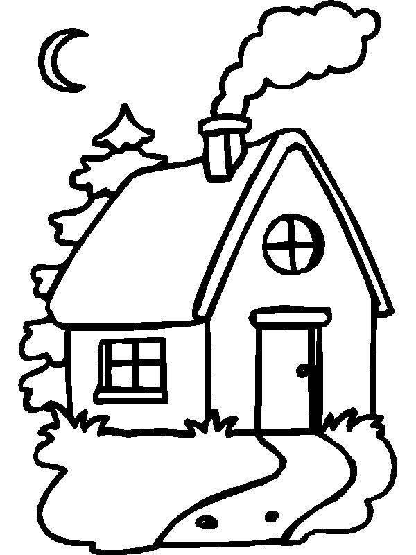 ... Casita 225x300 Casa en el bosque para colorear. Dibujos infantiles