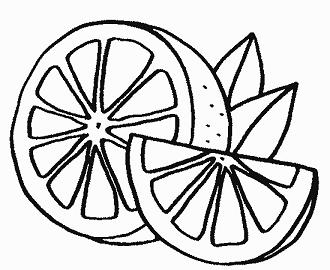 Dibujo Para Colorear De Un Limon Fruta Saludable Para Ninos