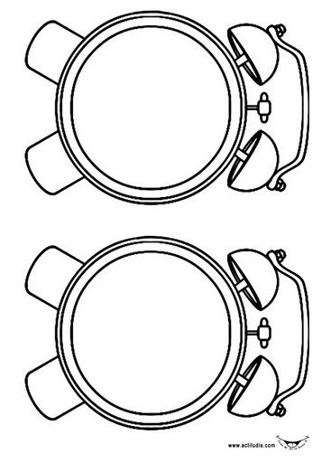Reloj Para Colorear Y Armar, colorea, recorta y pega