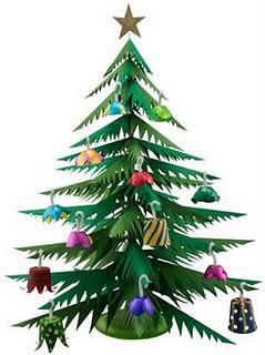 Manualidades faciles para niños en Navidad. Arbol de navidad de papel