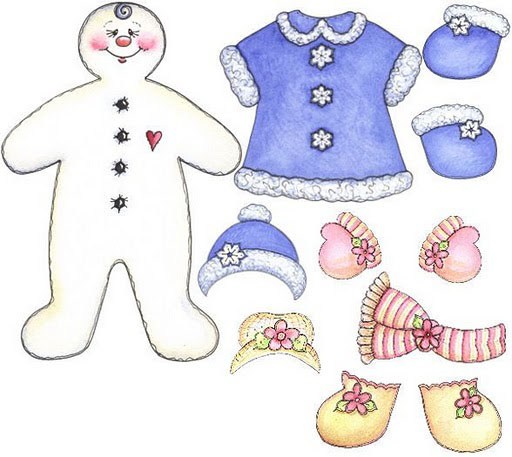 Recortable de muñeco de nieve para infantil en Navidad