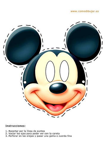 Careta de Mickey Mouse para Carnaval