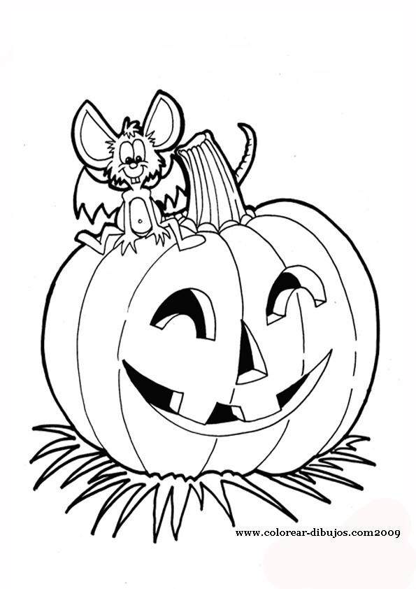 Descubriendo pequemundos calabazas de halloween para colorear - Calabaza halloween para colorear ...