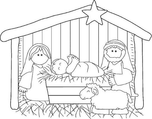 Dibujo para colorear del Niño Jesús