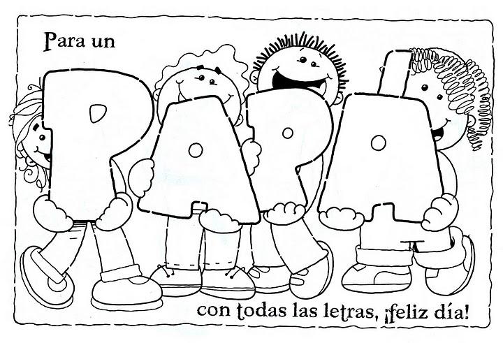 Imagenes De El DIA Del Padre Para Colorear