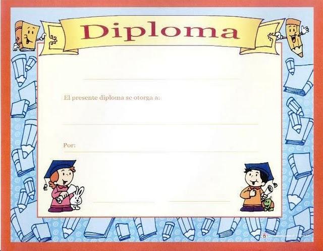 Diplomas escolares para fin de curso