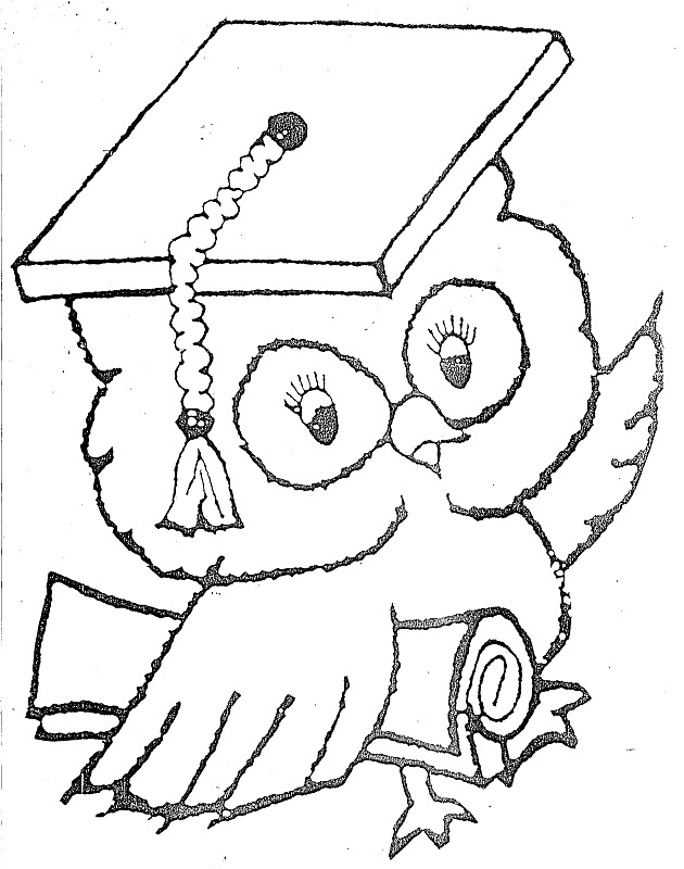 Graduation Owl Coloring Page