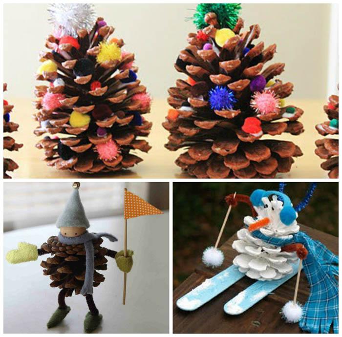 Manualidad de navidad con pi as for Manualidades navidad con pinas