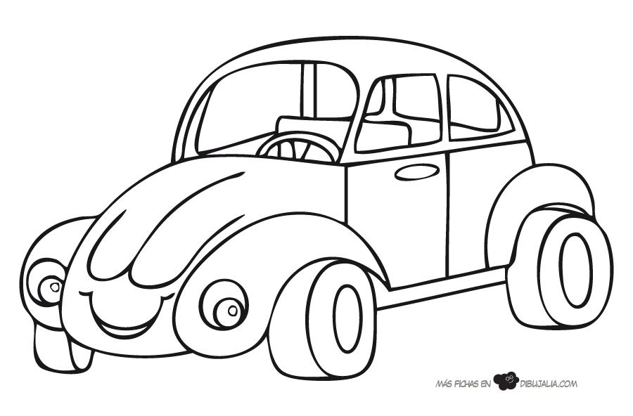 Dibujo de coche para colorear - Coches para colorear y pintar ...