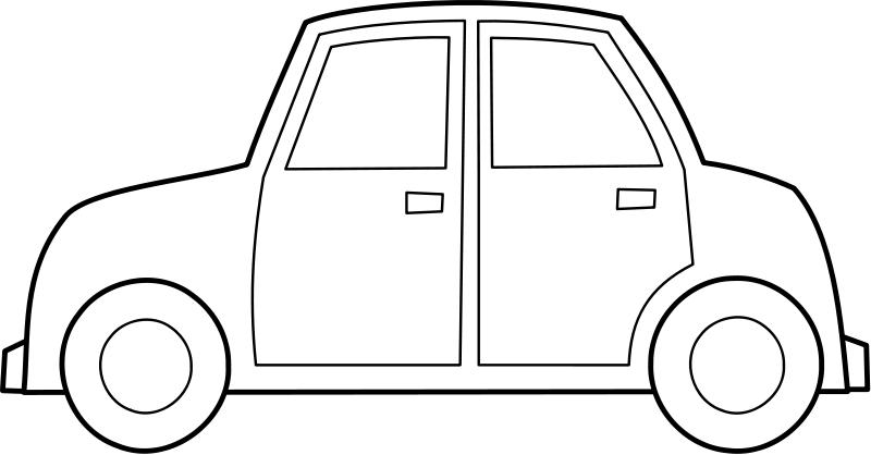 Dibujo de coche para colorear