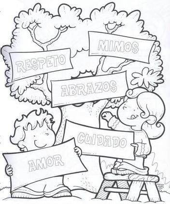 Dibujo Para Colorear Y Trabajar Los Afectos