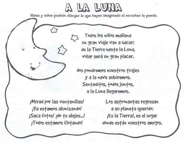Poemas De Ninos Sobre La Luna