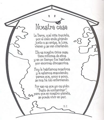poema para escolares sobre el planeta tierra