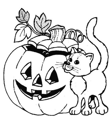 Dibujo de halloween para colorear