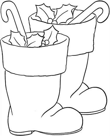Dibujo Infantil Navideño Para Colorear