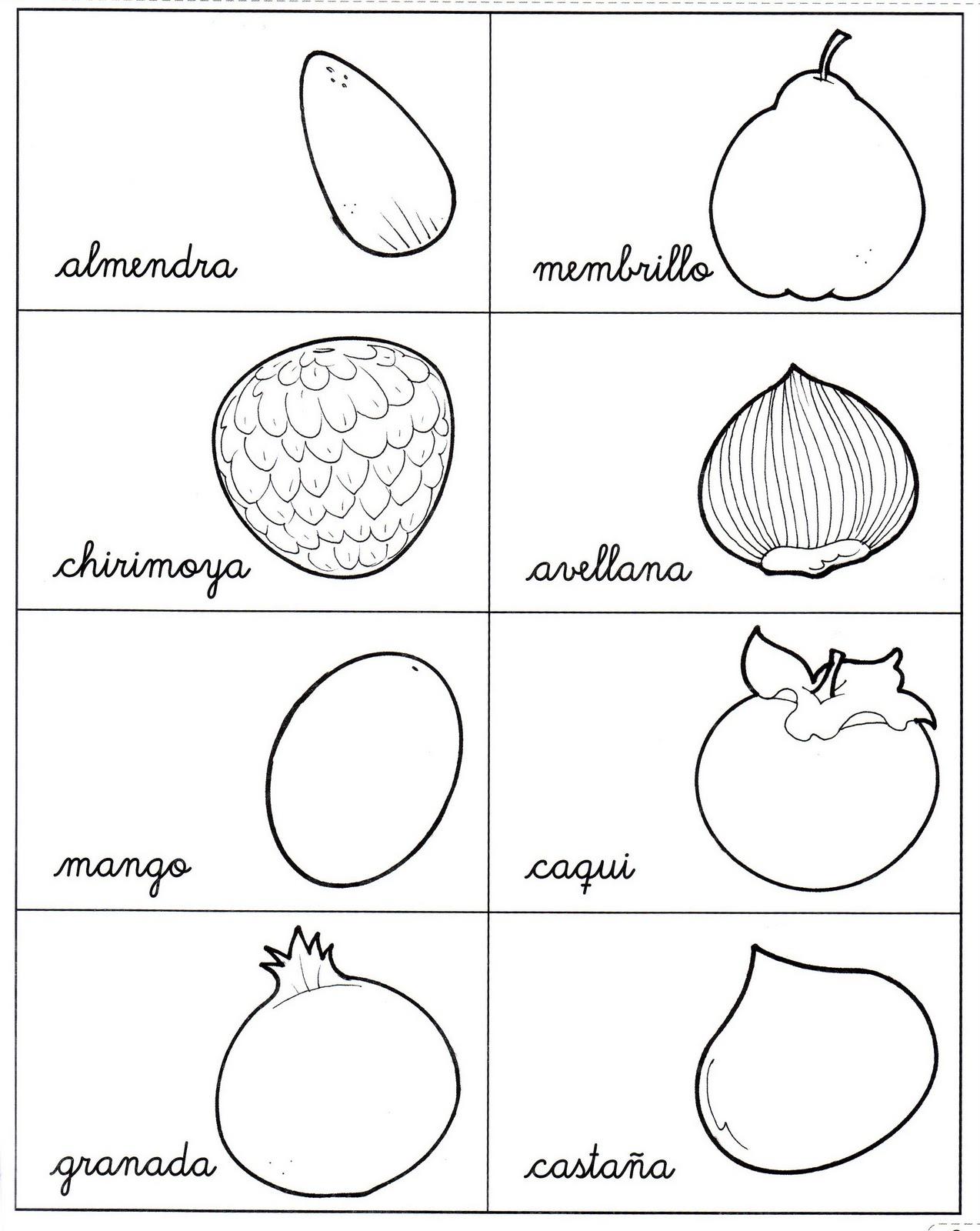 Frutas de temporada de otoño para niños