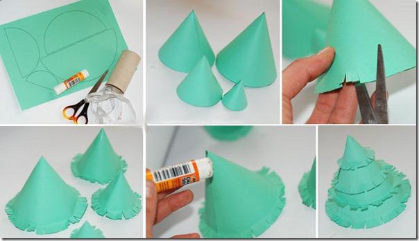 Поделки на ёлку своими руками из бумаги