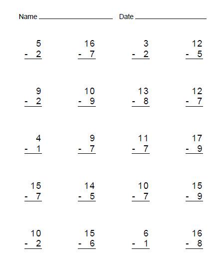 Restas simples para niños de primaria