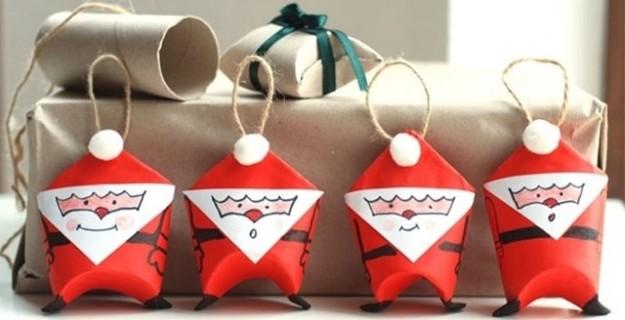 Manualidad navide a para elaborar con ni os - Adornos navidenos con material reciclado para ninos ...