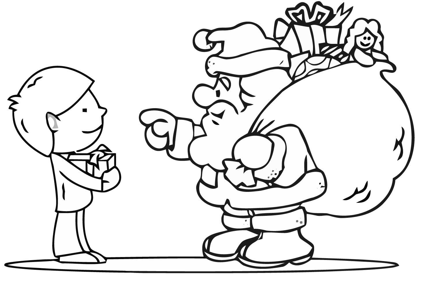 Dibujo navideño para colorear en navidad