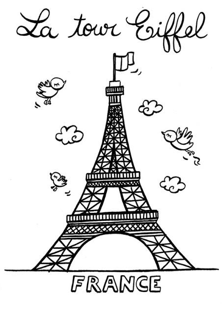 Dibujo Para Colorear Torre Eiffel Imagui