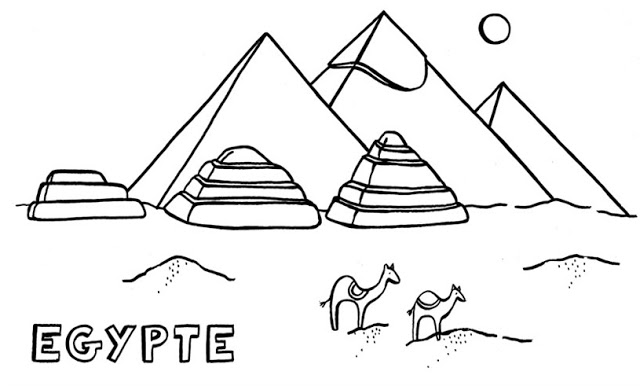 Pirmides de Egipto para colorear