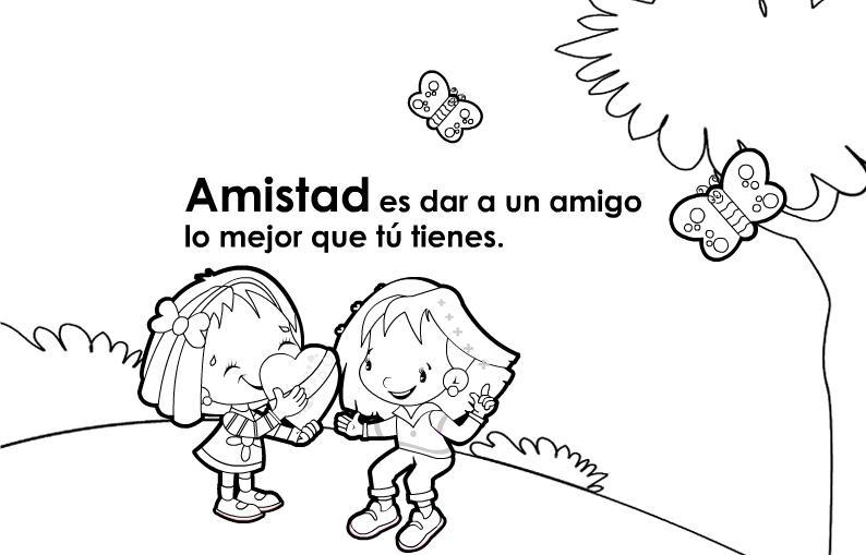 Cartel Con El Valor De La Amistad Para Niños