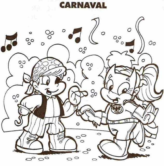 Dibujo de carnaval para colorear