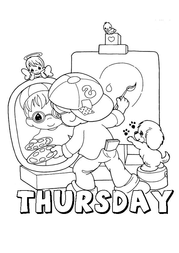 Dibujo Con Día De La Semana En Inglés