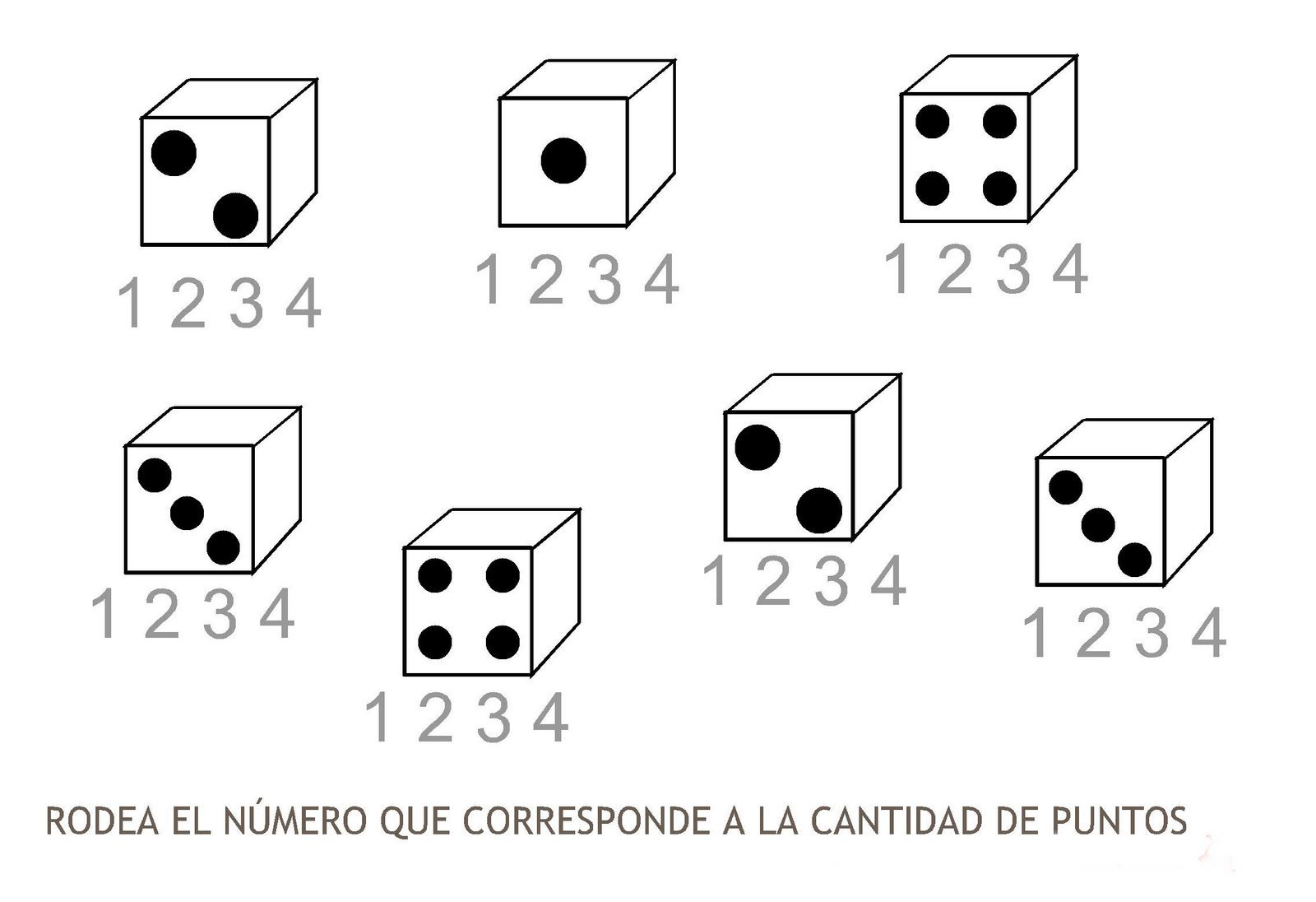 Actividad matemática para niños de educación infantil