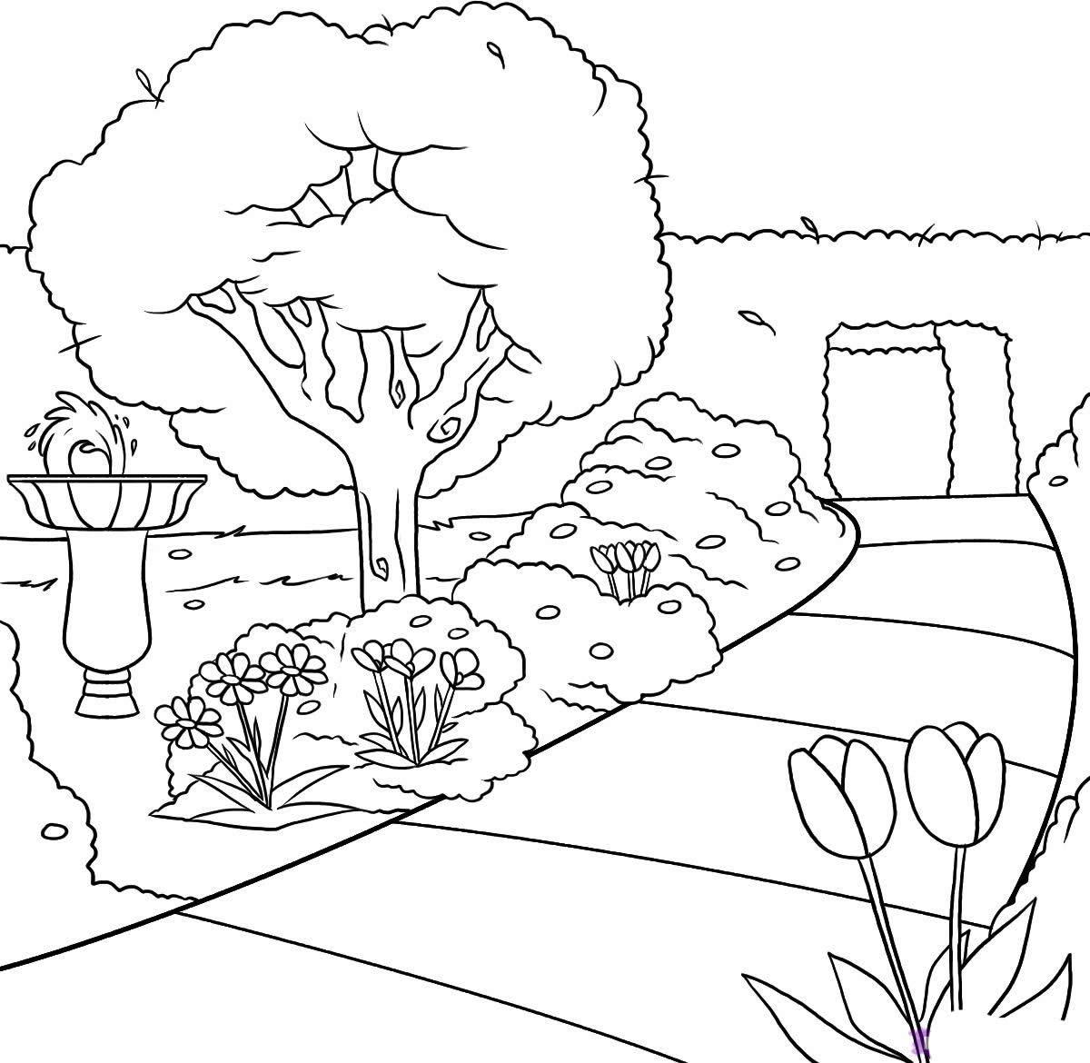 Dibujo de parque para colorear