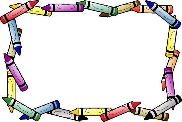 Estupenda caratula con lapices de colores para decorar cuadernos