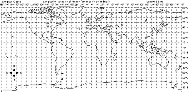 Planisferio coordenadas geograficas para imprimir - Imagui