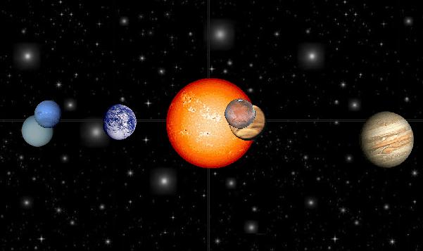 Movimiento de rotación de la tierra. Sistema solar para infantil