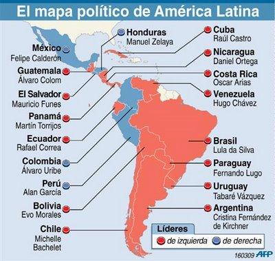 54f02b8eef513e79382bcea59571ca81 Situación política de América del Sur. Lideres políticos por países