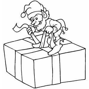 Dibujos Originales De Navidad Para Ninos.Dibujos Para Colorear De Elfos De Navidad Para Ninos