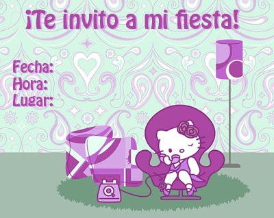 ... Invitación para fiesta infantil Hello Kitty