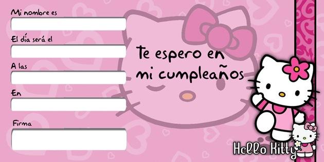 Tarjeta de cumpleaños de Hello Kitty para niños