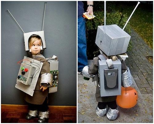 Disfraz de robot para niños con material reciclado - Imagui