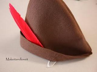 Sombrero para disfraz de Peter Pan,