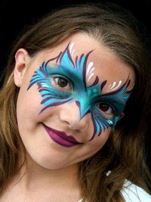 Maquillaje de fantas a para ni as - Pinturas de cara para ninos ...