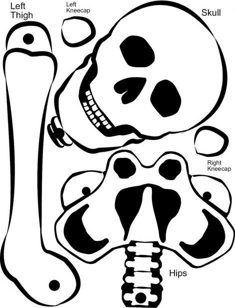 Esqueleto para imprimir, recortar y montar. Manualidad para niños