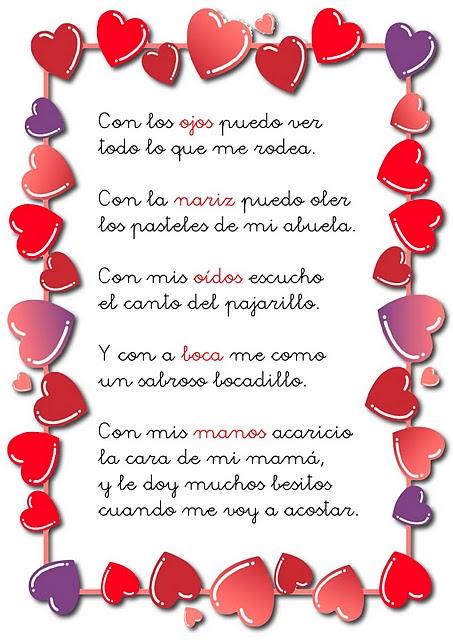 ... Poema infantil sobre los sentidos para educación infantil