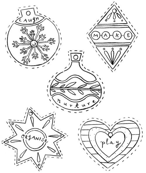 Dibujos De Adornos De Navidad Para Niños | Bernadettes